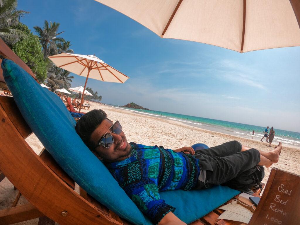 Desi Tourist Relaxing in Sri Lanka