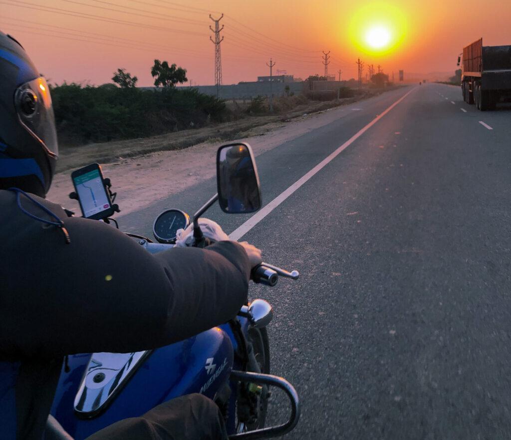 motorcycle trip through Rajasthan